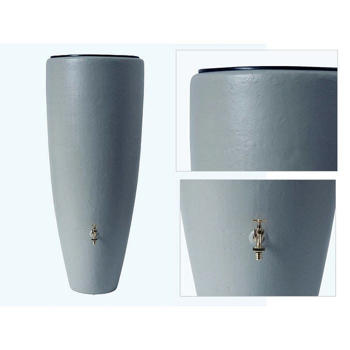 Récupérateur eau de pluie 2 en 1 300L GARANTIA Gris avec bac à fleur GARANTIA