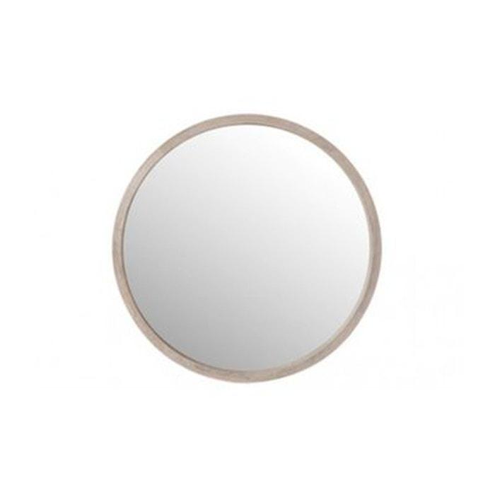 Miroir rond en bois blanchi diam tre 45cm bois wadiga - Miroir rond en bois ...