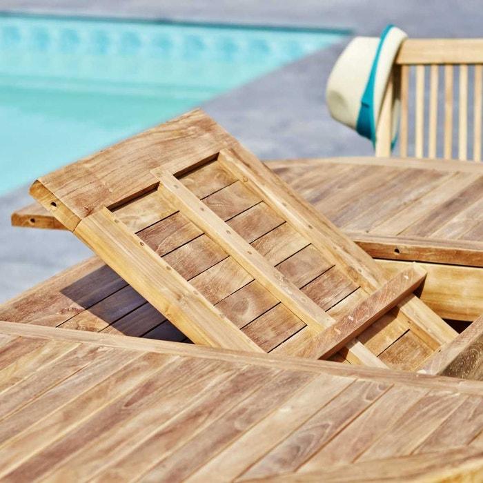 Salon de jardin en bois de teck brut qualite premium 8/10 pers ...