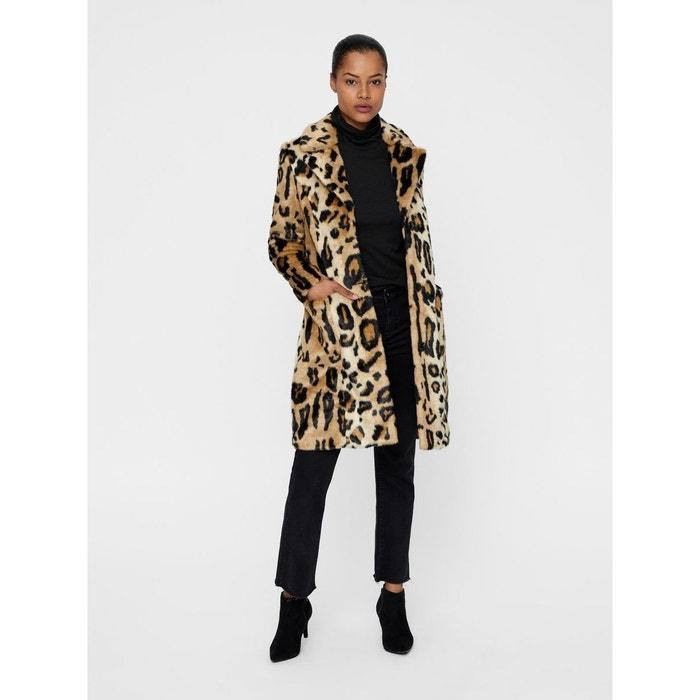 Manteau droit imprimé léopard imitation fourrure imprimé léopard Vero Moda    La Redoute 00fb21dc6505
