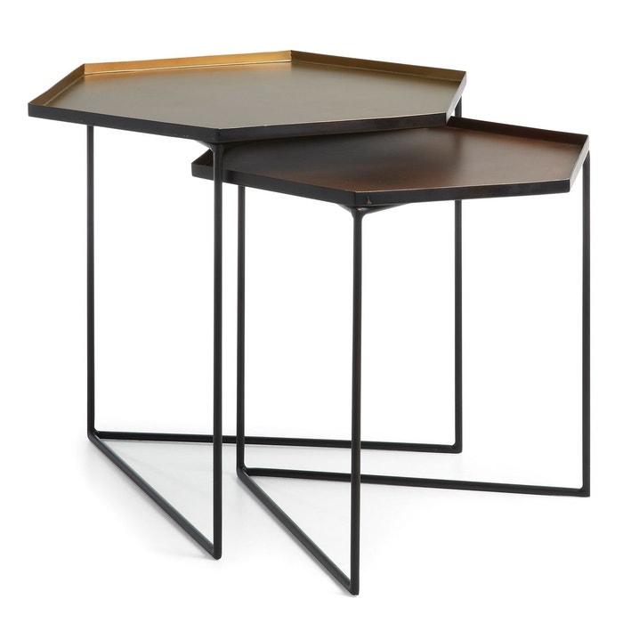 set de 2 tables gigogne vinker c dor kave home la redoute. Black Bedroom Furniture Sets. Home Design Ideas