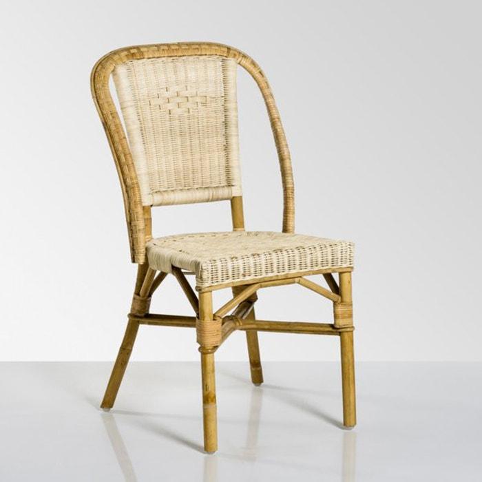 Chaise de jardin rotin naturel, KOK, Albertine  KOK image 0