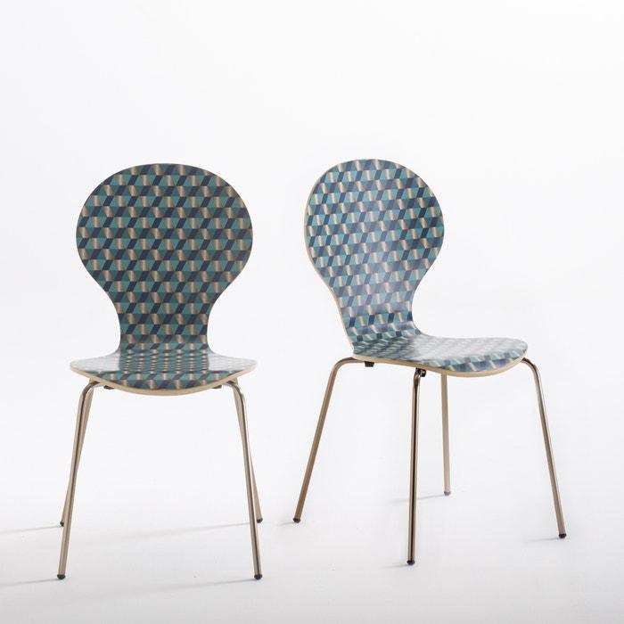 afbeelding Bedrukte stapelbare stoel (set van 2), Watford La Redoute Interieurs