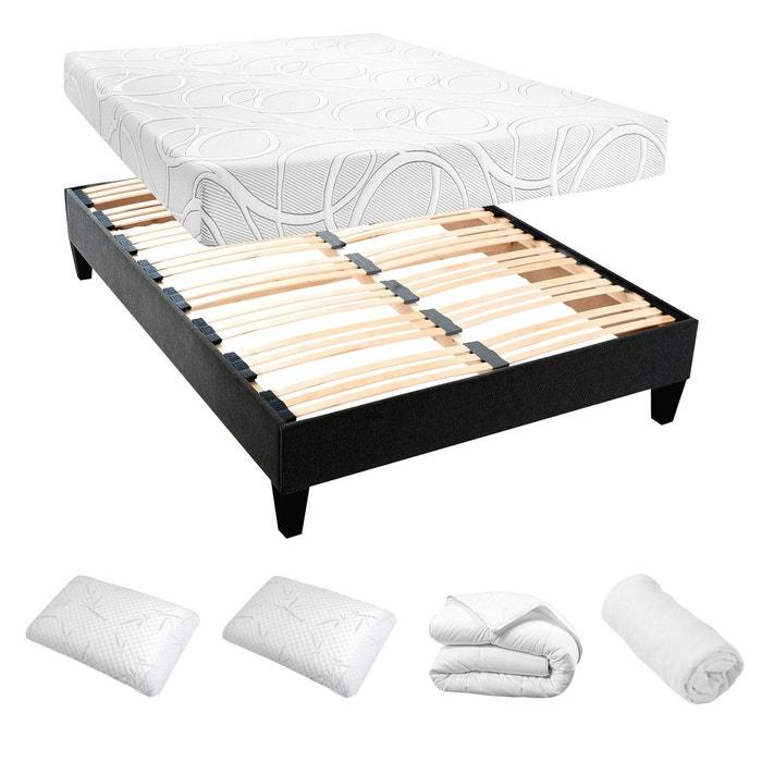 ensemble pr t dormir avec matelas micro capsules blanc home maison la redoute. Black Bedroom Furniture Sets. Home Design Ideas