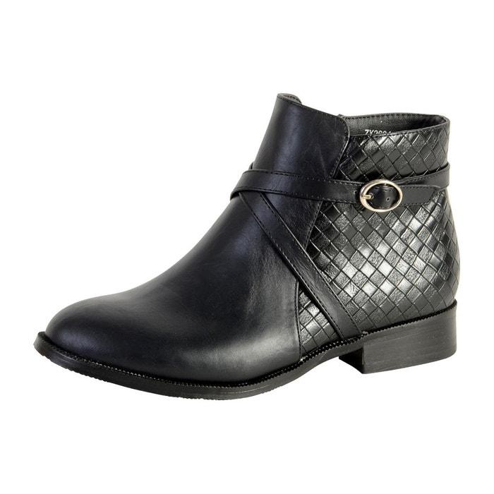 Enza Nucci Bottine  ZX2634 Noir Noir - Livraison Gratuite avec  - Chaussures Bottine Femme