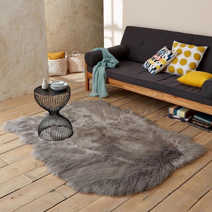 tapis effet peau de mouton livio 135 x 190 cm la redoute. Black Bedroom Furniture Sets. Home Design Ideas