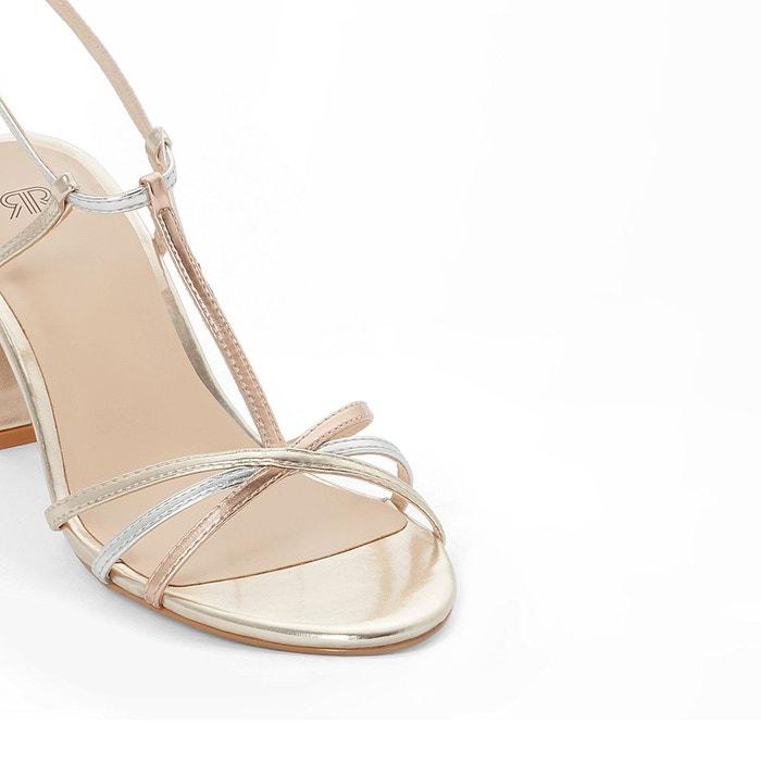 Sandales métallisées doré La Redoute Collections