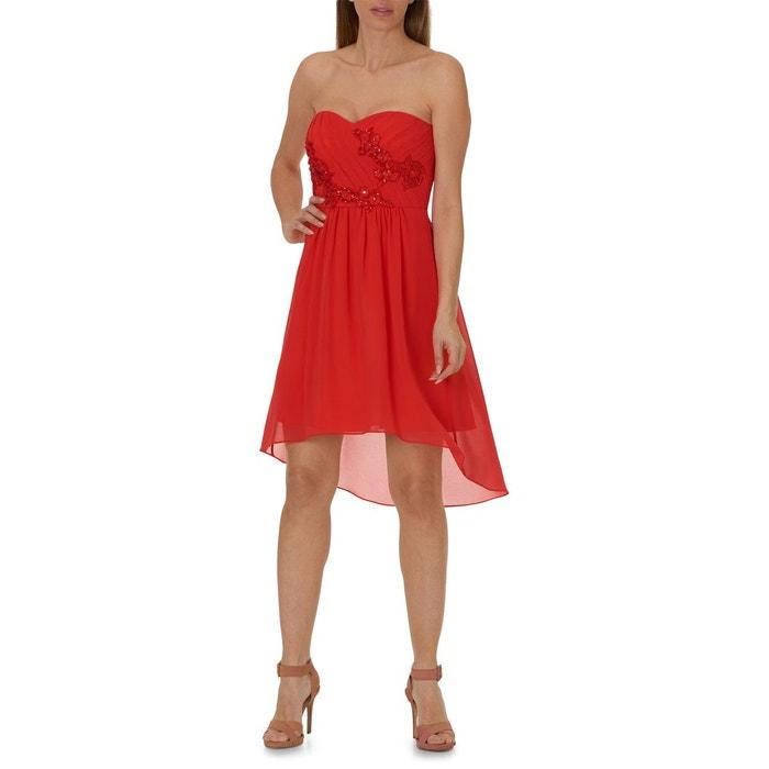 robe cocktail rouge rouge vera mont la redoute. Black Bedroom Furniture Sets. Home Design Ideas