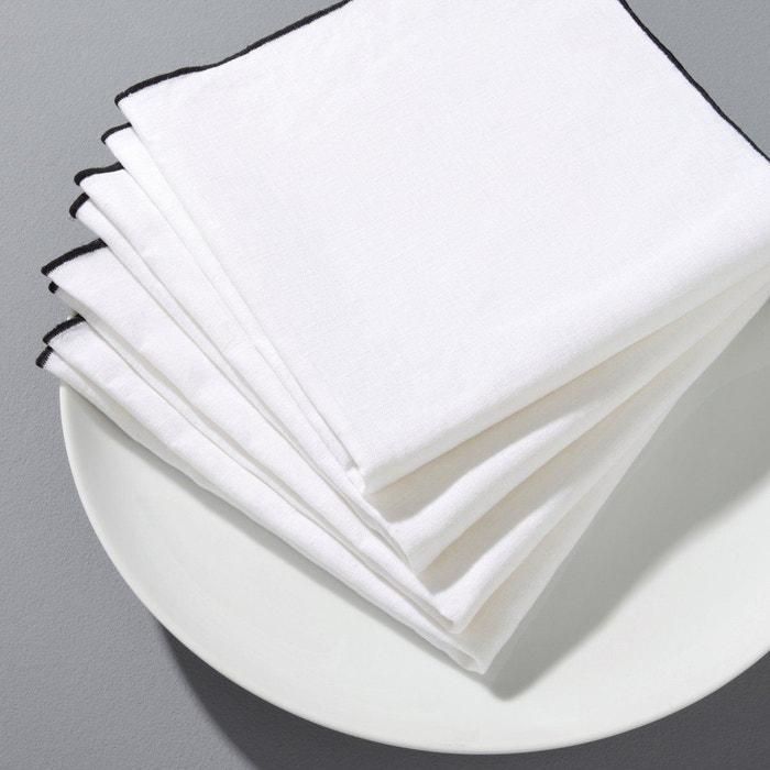 Serviette de table Suzy lin lavé (lot de 4)  AM.PM image 0