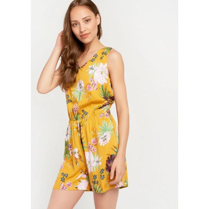 pas cher paquet à la mode et attrayant achat spécial Combinaison short à fleurs