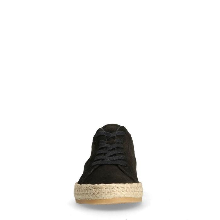Baskets basses avec semelle en corde noir Sacha