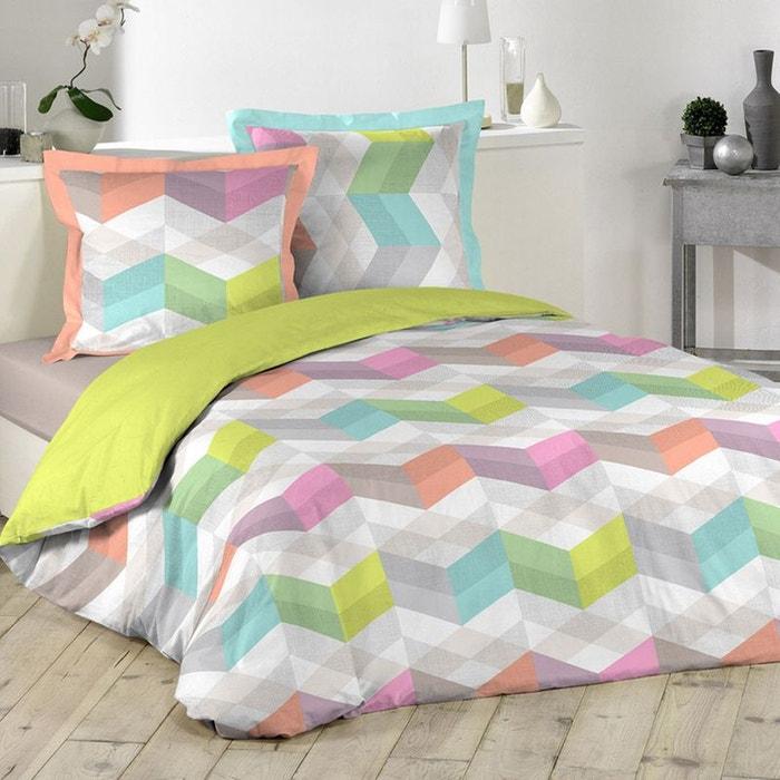 parure de lit formes g om triques color es sans home maison la redoute. Black Bedroom Furniture Sets. Home Design Ideas