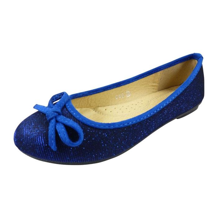 316edb0a885ca Ballerines en toile et brillante à noeud chaussure femme