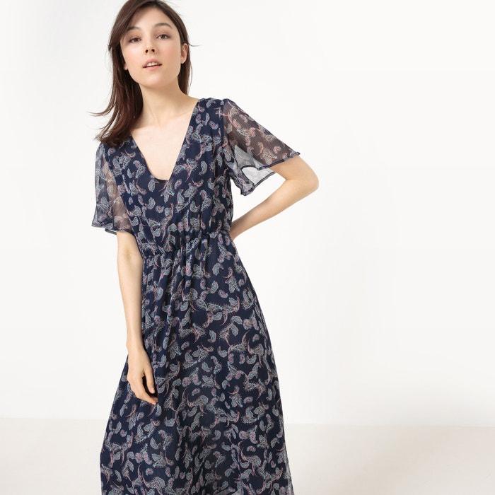 afbeelding Lange jurk met kasjmier print La Redoute Collections