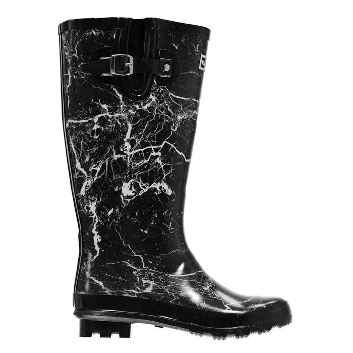 Wellington bottes de pluie imprimé  noir print Kangol  La Redoute