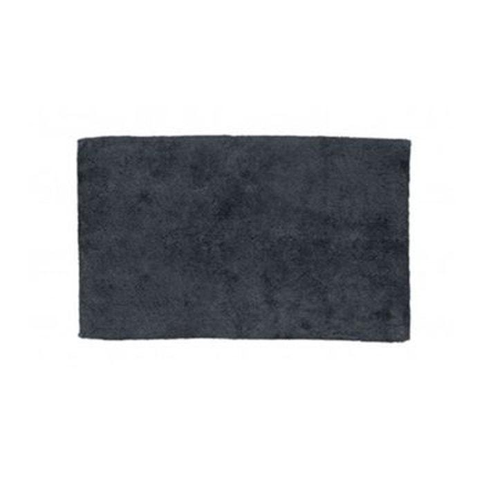 tapis de bain rectangulaire 100 coton uni gris 1775g. Black Bedroom Furniture Sets. Home Design Ideas