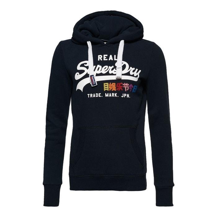 a509fc53a73a Sweat à capuche strassé avec logo vintage pop Superdry