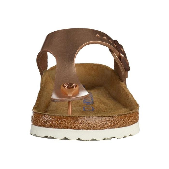 Sandales nu pieds cuir metallic copper Birkenstock   La Redoute