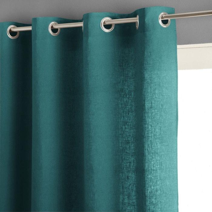 rideau lin lav illets private gris moyen am pm en solde la redoute. Black Bedroom Furniture Sets. Home Design Ideas
