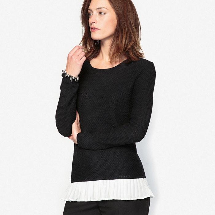 afbeelding Trui in fantasie tricot met 10% wol ANNE WEYBURN