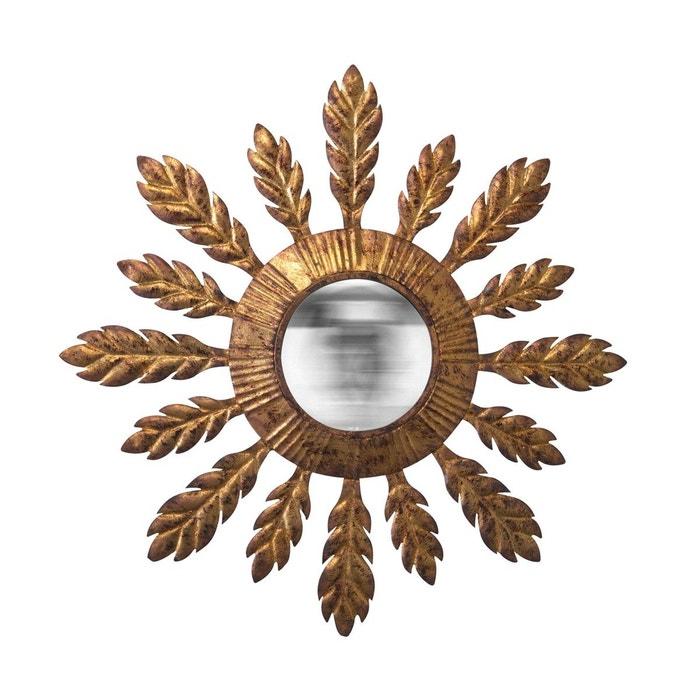 Miroir soleil convexe dor or emde premium la redoute for Miroir emde deco
