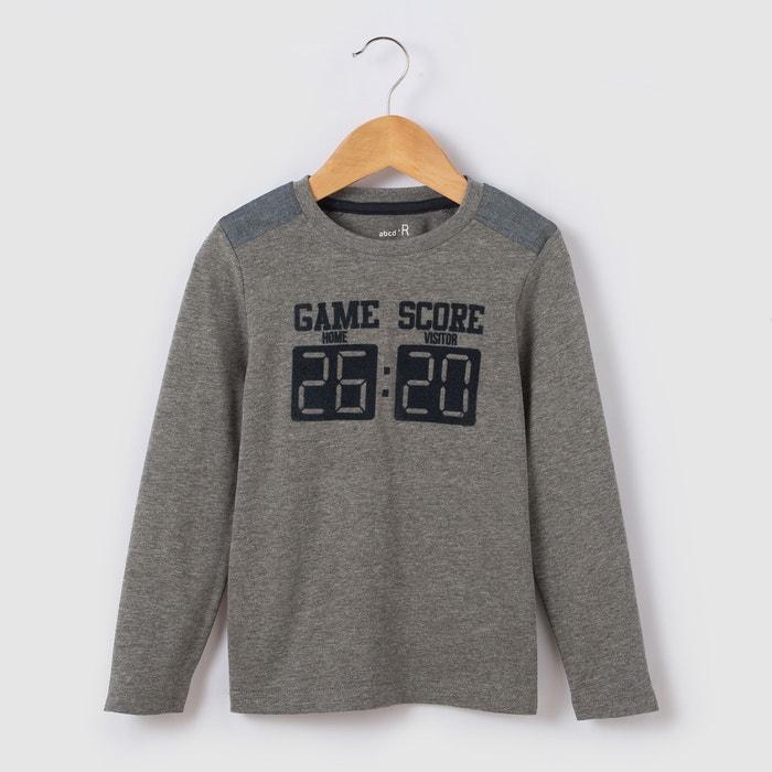 Image T-shirt manches longues score 3-12 ans La Redoute Collections