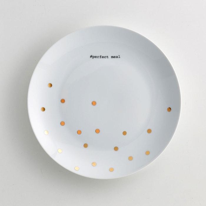 lot 4 assiettes plates porcelaine kubler imprim pois la redoute interieurs la redoute. Black Bedroom Furniture Sets. Home Design Ideas