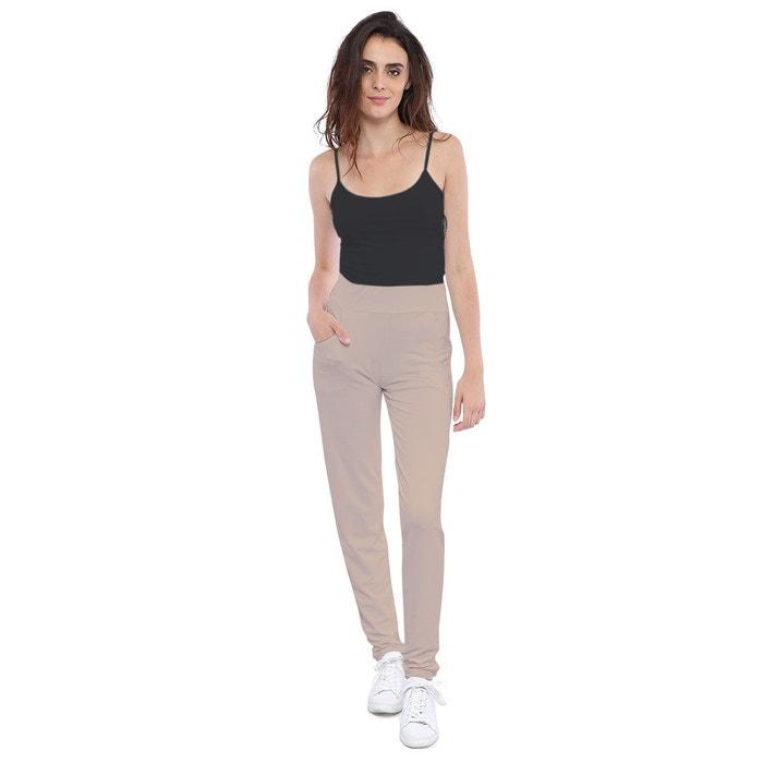 d47da1033161 Pantalon coupe fluide taille élastique avec poches en maille modal joelle  Rendez-Vous Paris