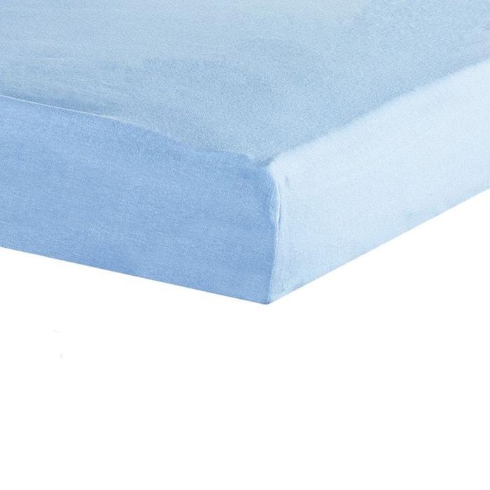 Drap housse b b 60x120 bleu bleu les kinousses la redoute for Drap housse 60x120