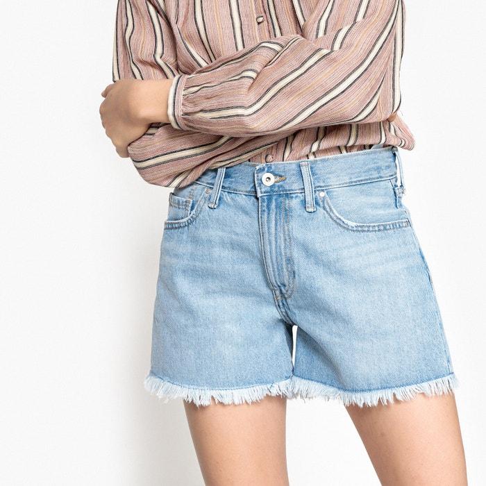 Denim Shorts with Frayed Hem  ONLY image 0