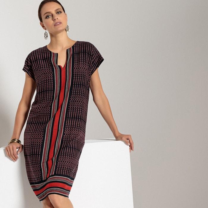 Платье прямое с короткими рукавами и рисунком  ANNE WEYBURN image 0