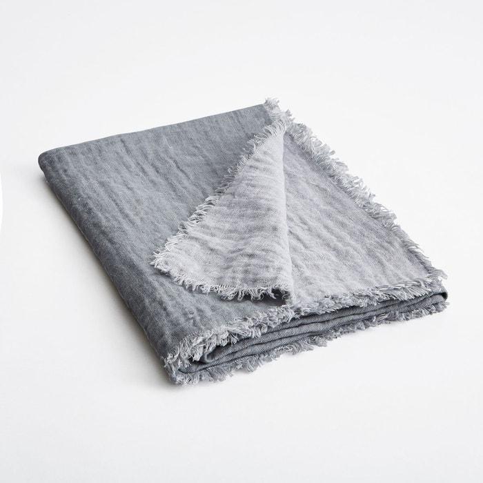 plaid lin effet gaufr bicolore orosco am pm la redoute. Black Bedroom Furniture Sets. Home Design Ideas