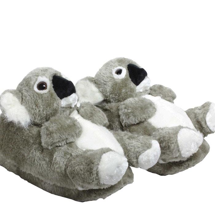 Chaussons animaux peluche femme - koala  gris Sleeperz  La Redoute