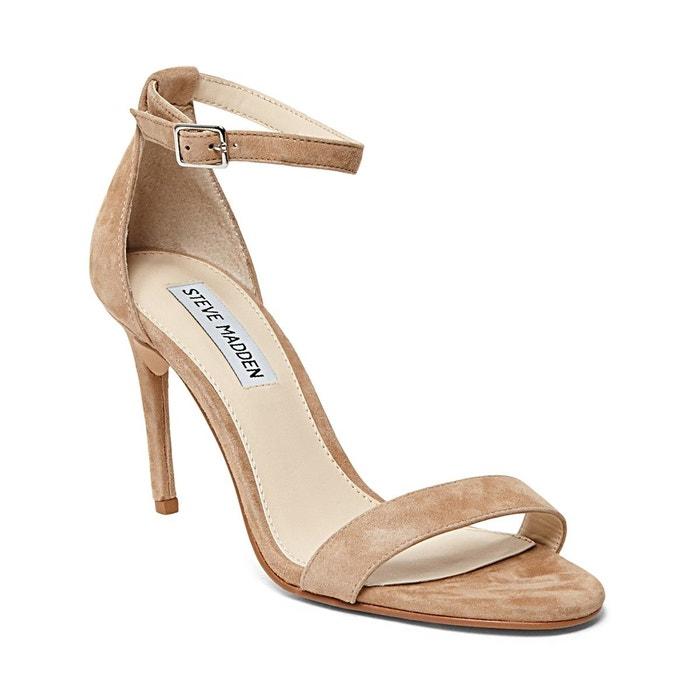 Sandale ouverte à talon daim caramel Steve Madden Livraison Gratuite 100% Garanti BkVjyH