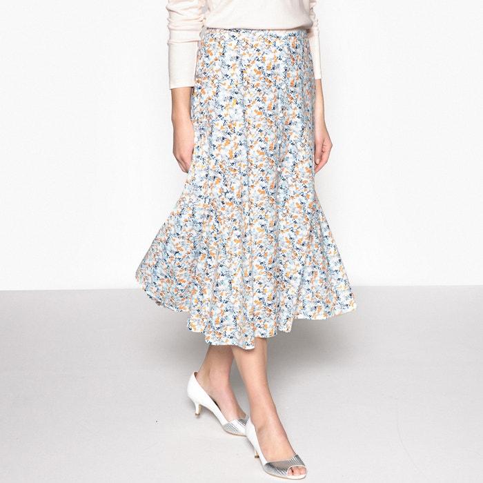 Floral Print Flared Midi Skirt  ANNE WEYBURN image 0