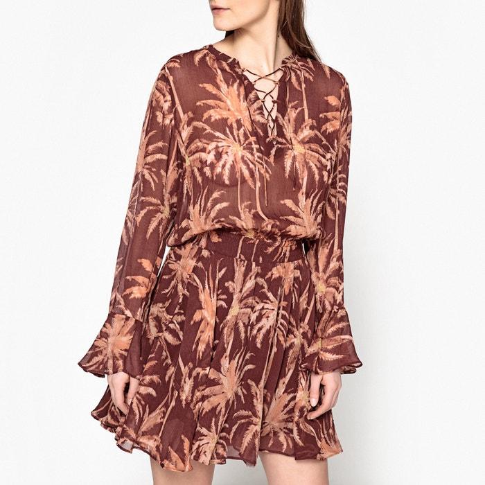 Short Draping Printed Dress  MAISON SCOTCH image 0