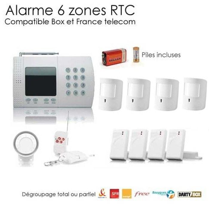 alarme maison avec animaux 6 zones xl couleur unique