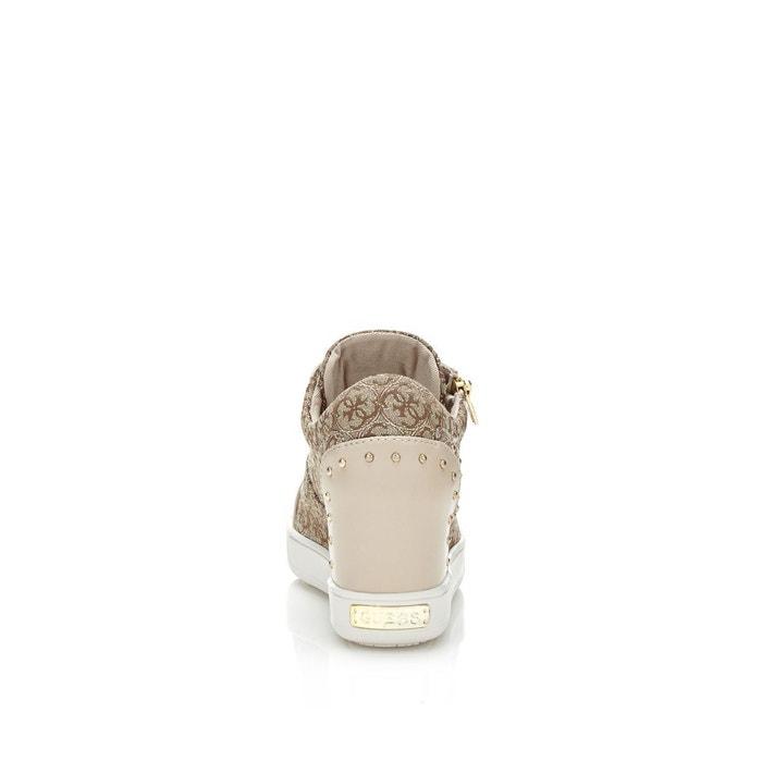 Sneaker finna motif logo marron Guess