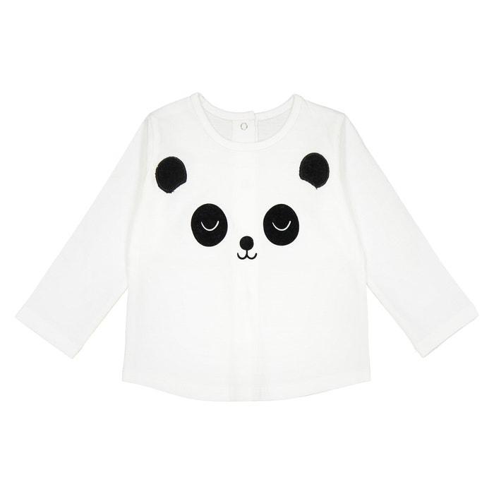 T-shirt manches longues Panda 0 mois - 2 ans  La Redoute Collections image 0