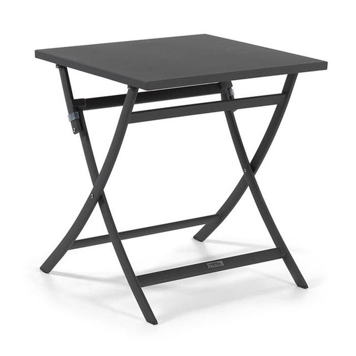 Table pliante carrée en alu 70 x 70 cm Grace
