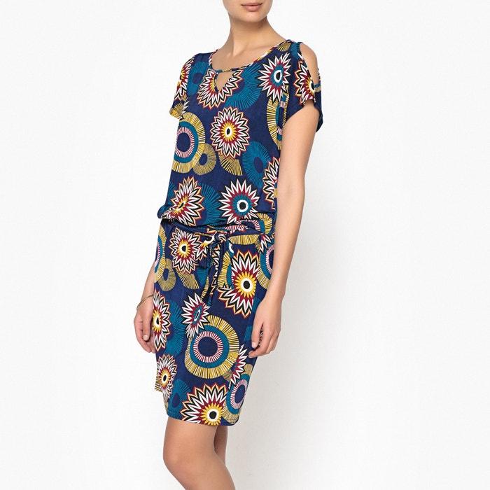 Printed Cold Shoulder Dress  ANNE WEYBURN image 0