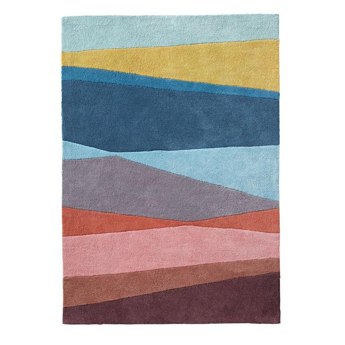 tapis tuft pur coton ivo multicolore la redoute. Black Bedroom Furniture Sets. Home Design Ideas
