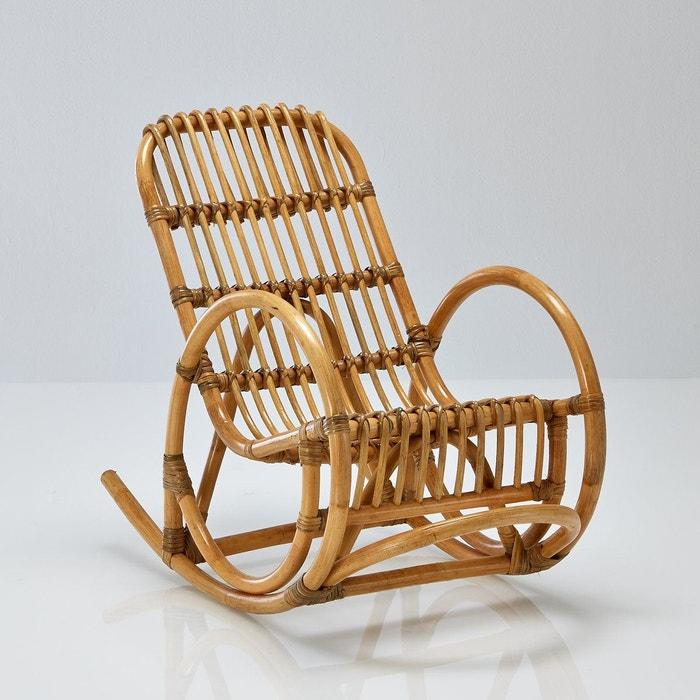 Fauteuil enfant rocking chair en rotin malu rotin naturel la redoute interie - Prix d un rocking chair ...