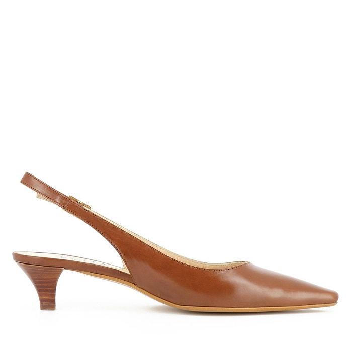 Escarpins sling cognac Evita