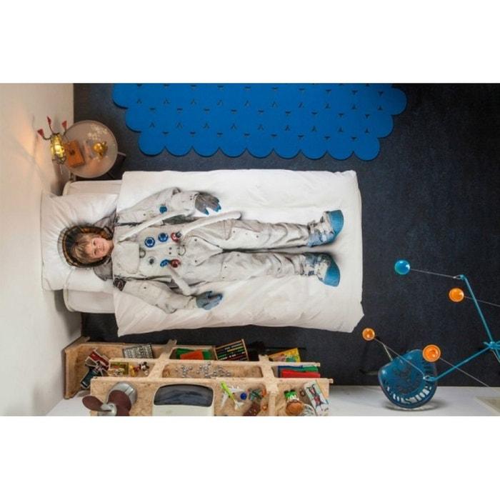Parure de lit astronaute 140x200 blanc nordic factory la redoute - La redoute parure de lit ...