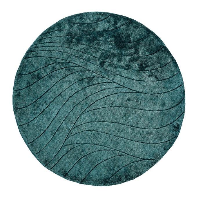 tapis rond viscose sindi bleu cyan la redoute interieurs. Black Bedroom Furniture Sets. Home Design Ideas