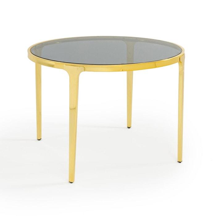 table ronde en verre luxore dor la redoute interieurs. Black Bedroom Furniture Sets. Home Design Ideas
