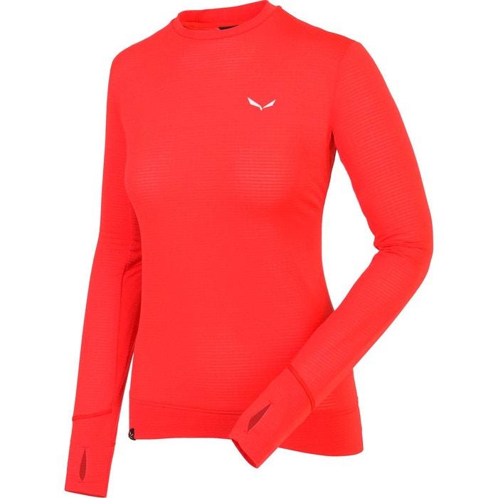 12e8b28425f Pedroc ptc - t-shirt manches longues femme - rouge rouge Salewa