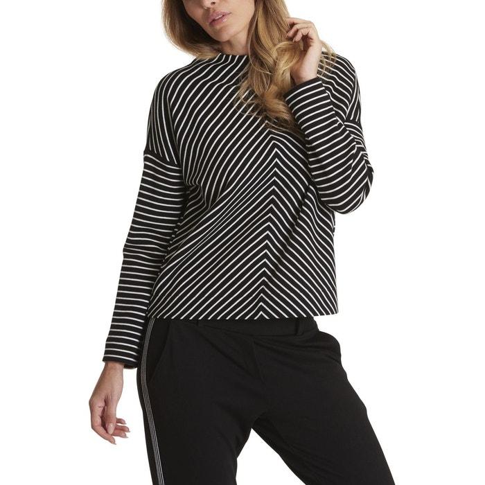 Sweat-shirt casual à rayures noir blanc gris Betty   Co   La Redoute 37c48acf56fb