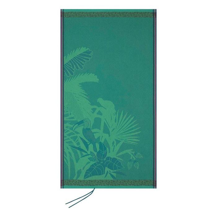 Drap De Plage Amazonie Forest 100x200 100 Coton Vert Le Jacquard